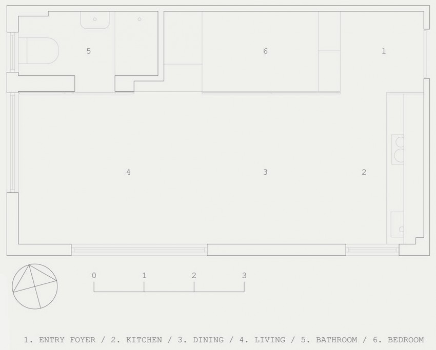 апартамент-стая в Сидни_план