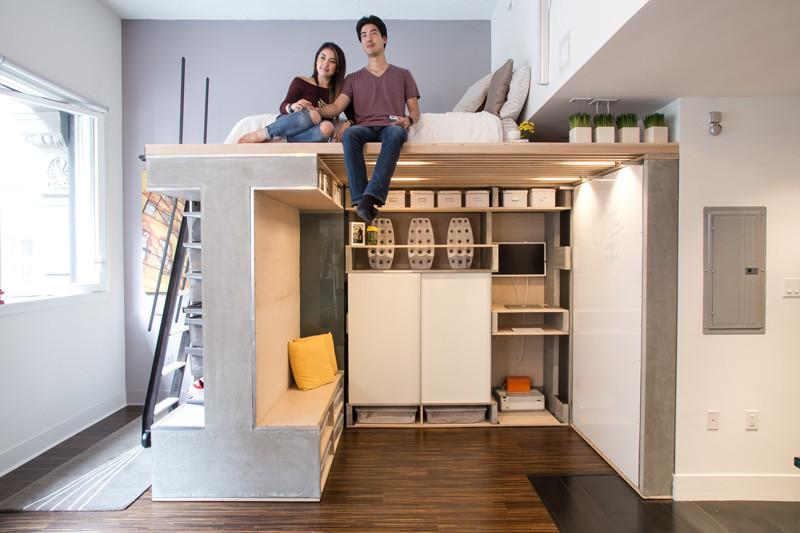 мултифункциоална система мебели за малък апартамент-1