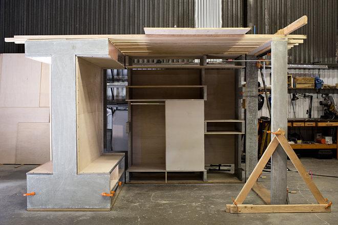 мултифункциоална система мебели за малък апартамент-12