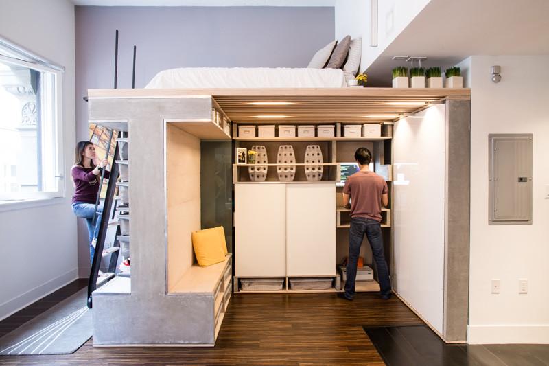 мултифункциоална система мебели за малък апартамент-2