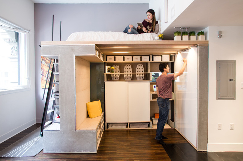 мултифункциоална система мебели за малък апартамент-3