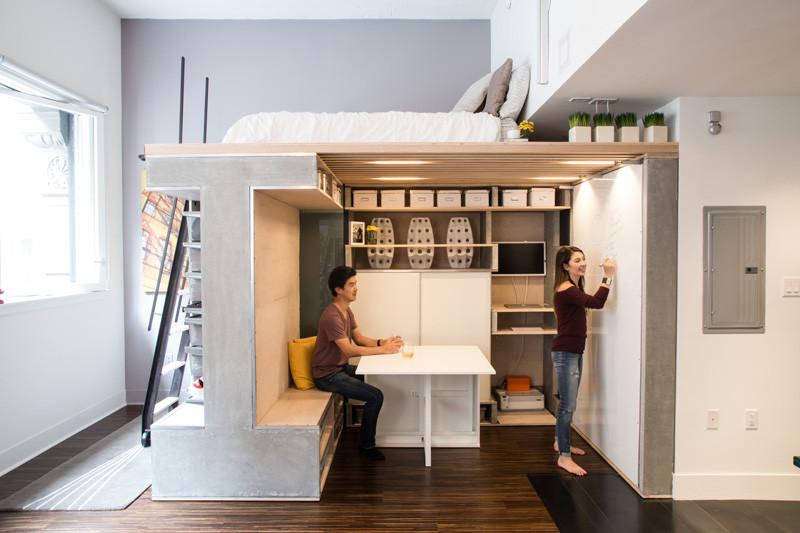 мултифункциоална система мебели за малък апартамент-4