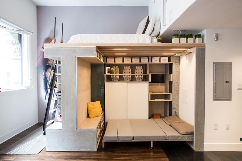 мултифункциоална система мебели за малък апартамент-8