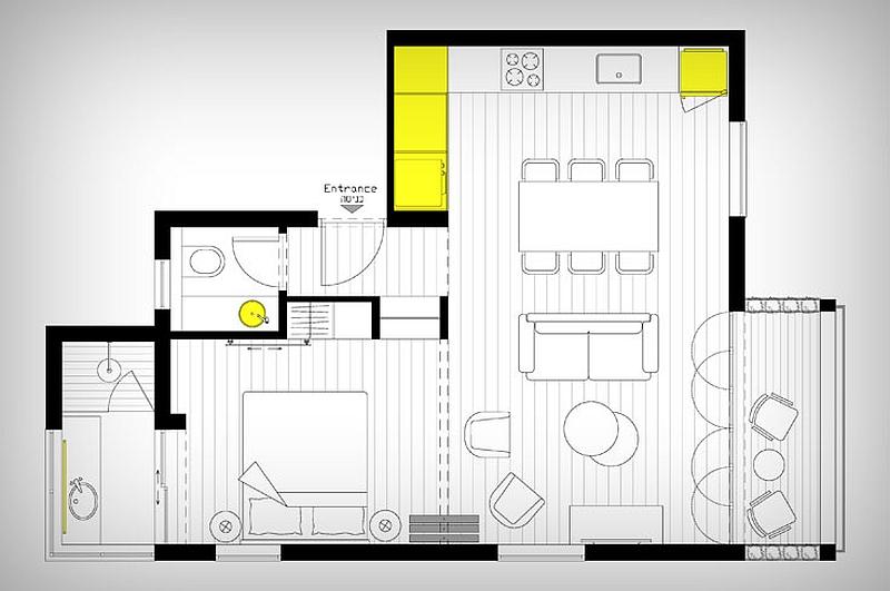 оригинални прегради и свежи акценти преобразяват малкия дом_разпределение