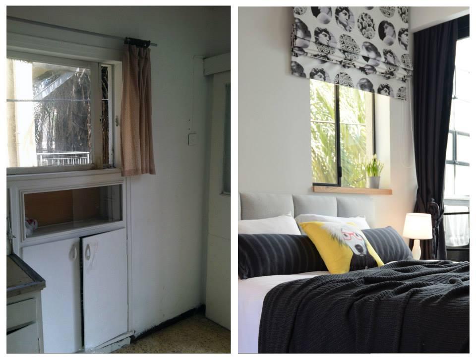 преди и след_46 кв. м апартамент в Тел Авив_1