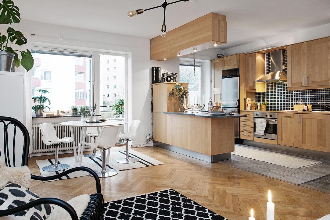 светъл двустаен апартамент в скандинавски стил_1