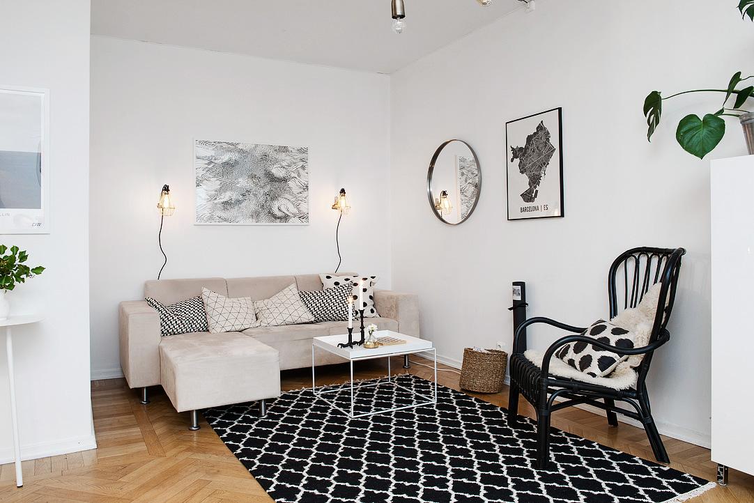 светъл двустаен апартамент в скандинавски стил_13
