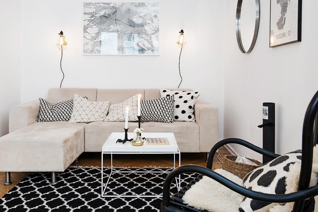 светъл двустаен апартамент в скандинавски стил_14