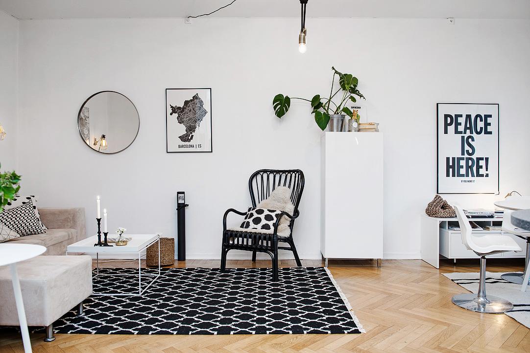светъл двустаен апартамент в скандинавски стил_15