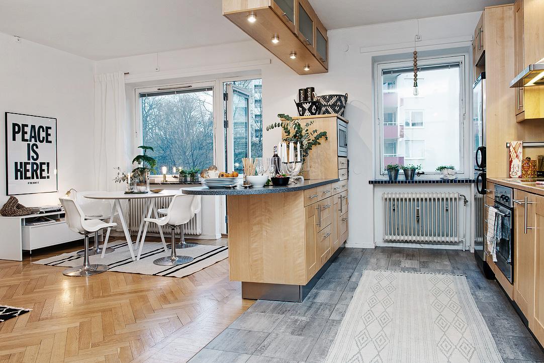 светъл двустаен апартамент в скандинавски стил_2