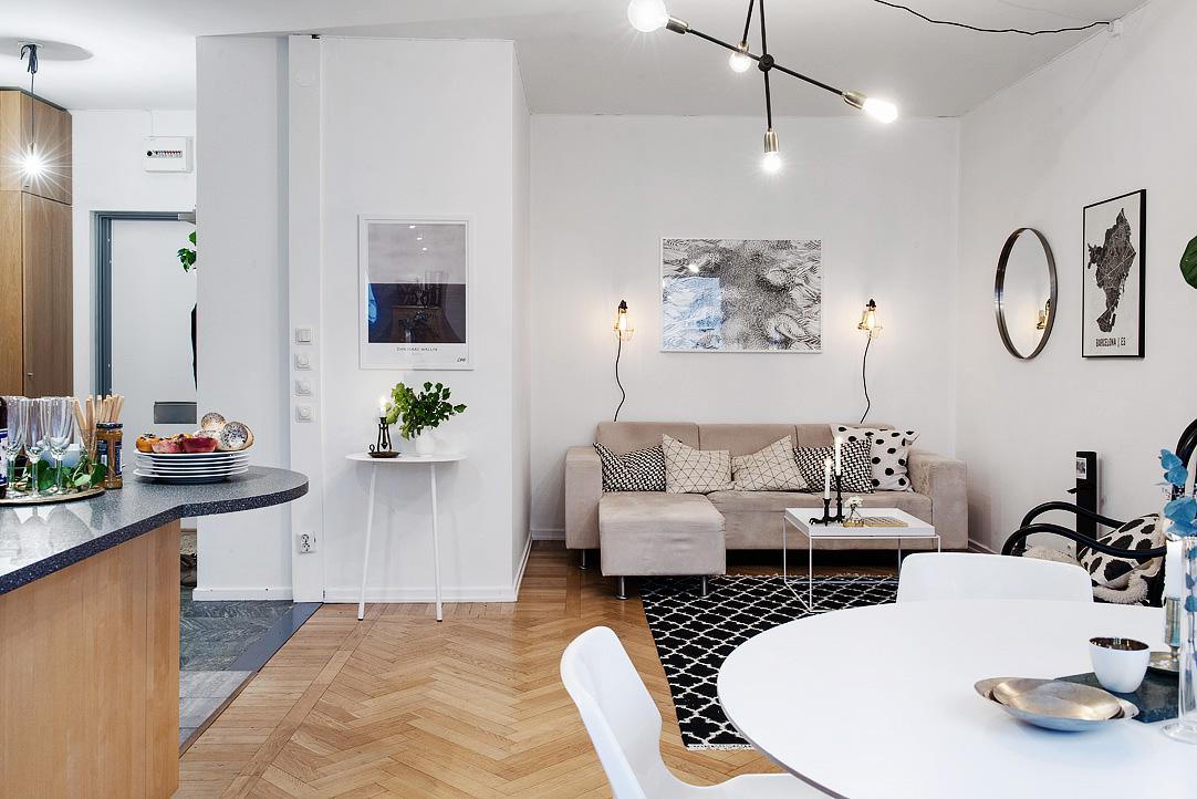 светъл двустаен апартамент в скандинавски стил_3