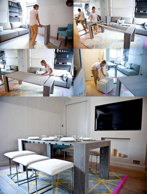 студио апартамент от 25 кв. м_разтегателна маса