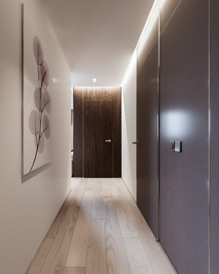 съвременен интериор, спокойно излъчване_коридор
