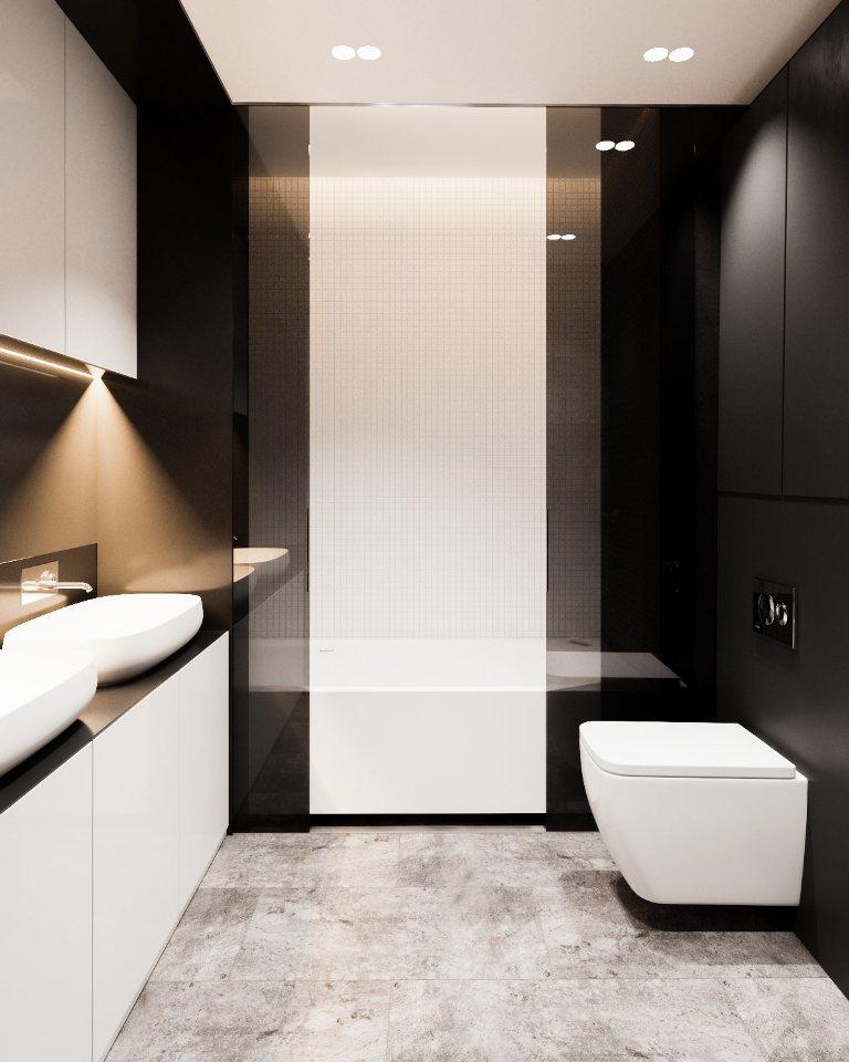 съвременен интериор, спокойно излъчване_ баня 2