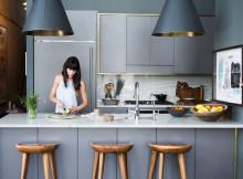 тренд в кухнята - сиво, метал и дърво