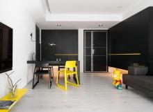 черно-бял интериор с жълти акценти_1