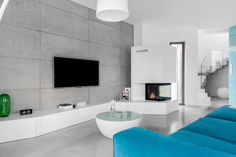 Интериор в бяло, синьо и сиво_2