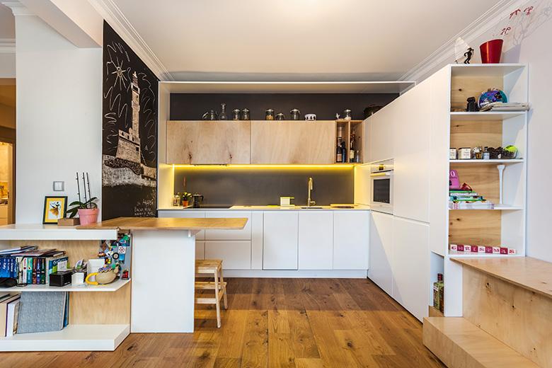 Кухня със скрит остров_2