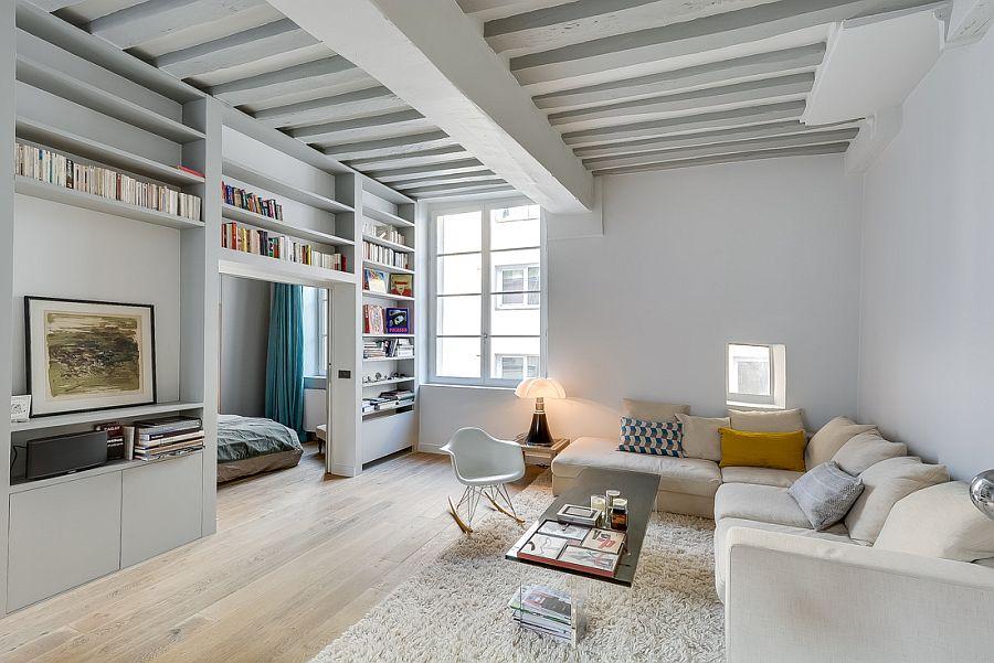 светъл двустаен апартамент в Париж_6