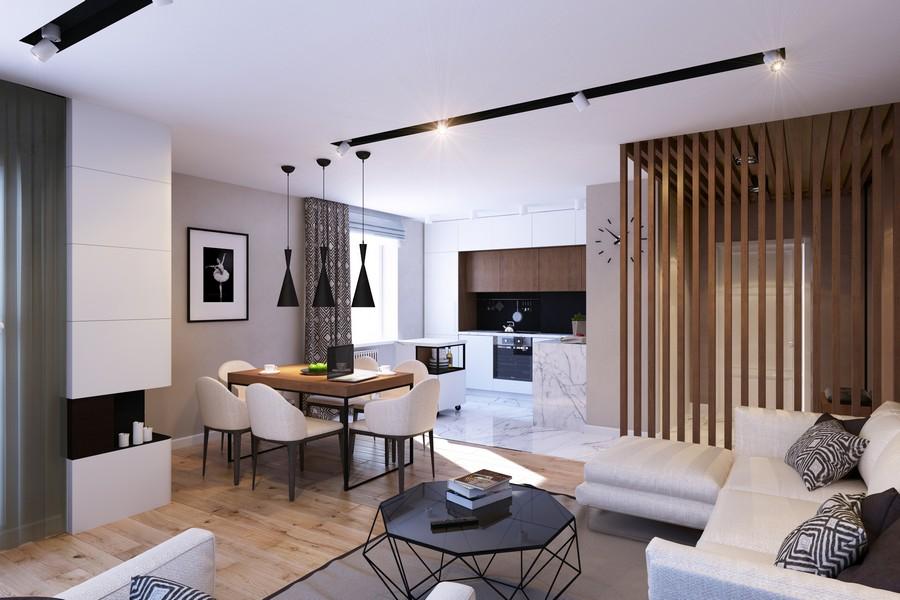 стилен интериор на апартамент в Русия_1