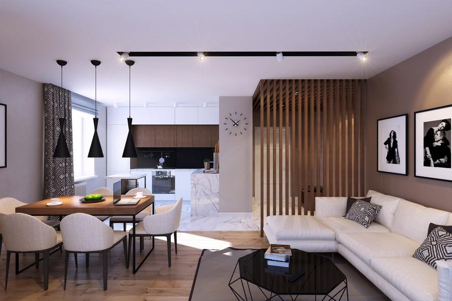 стилен интериор на апартамент в Русия_2