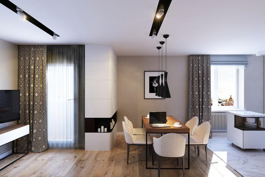 стилен интериор на апартамент в Русия_3