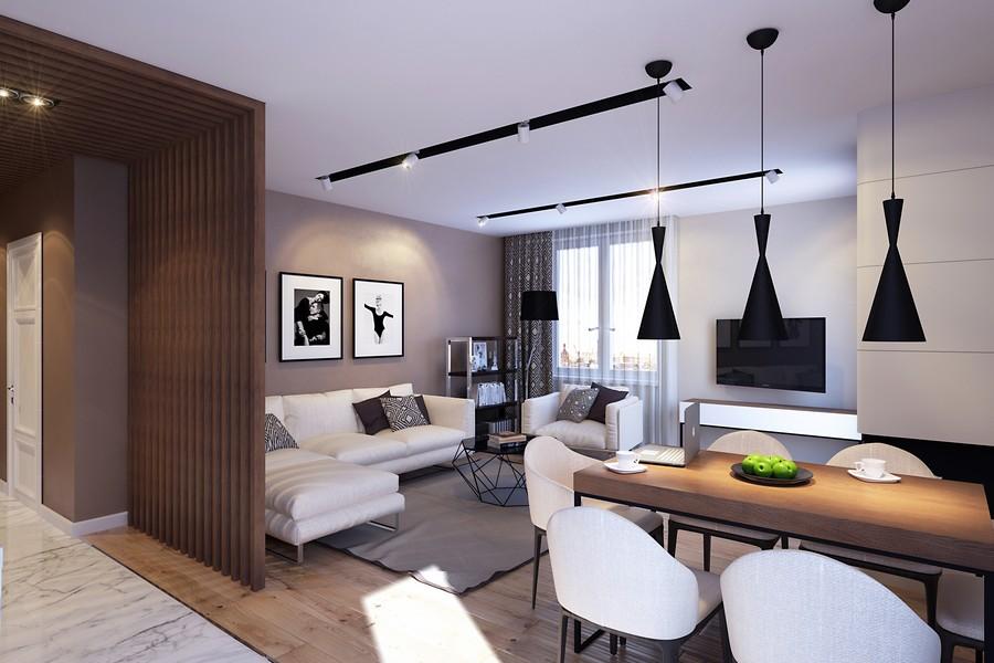 стилен интериор на апартамент в Русия_4
