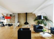 таванско жилище с топло и уютно излъчване