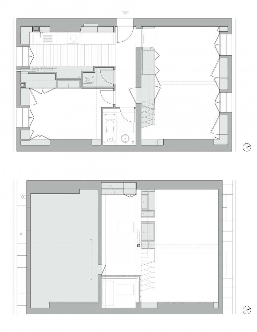 цветни детайли в бял интериор_план