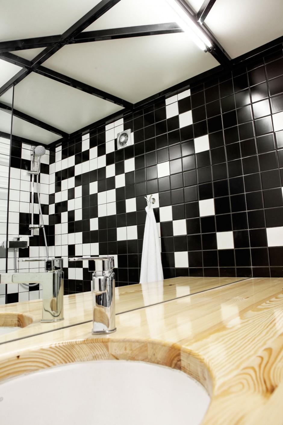 черно бял интериор в 26 кв. м жилище_15