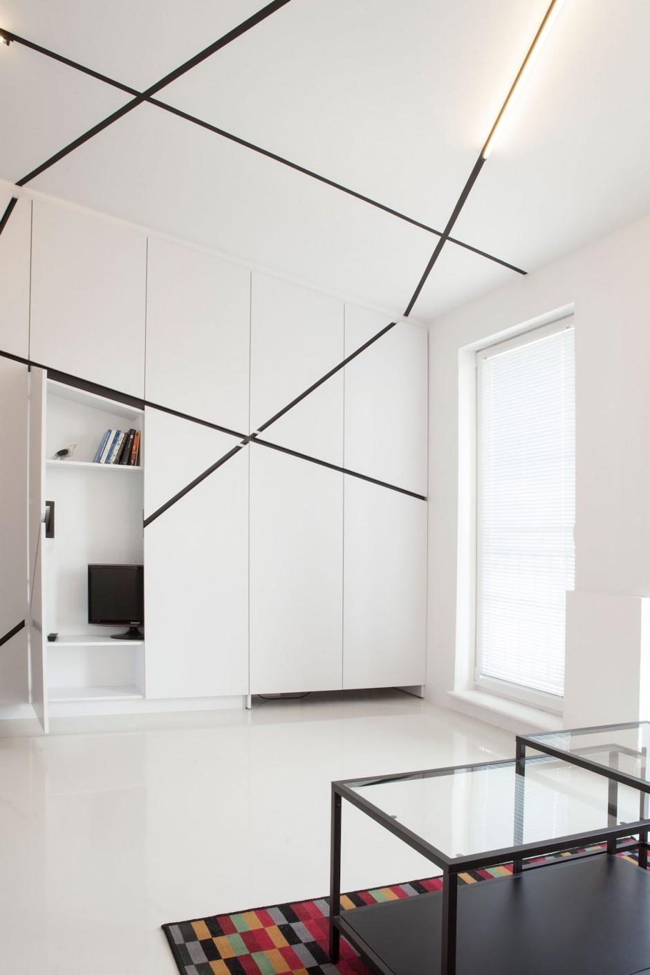 черно бял интериор в 26 кв. м жилище_5