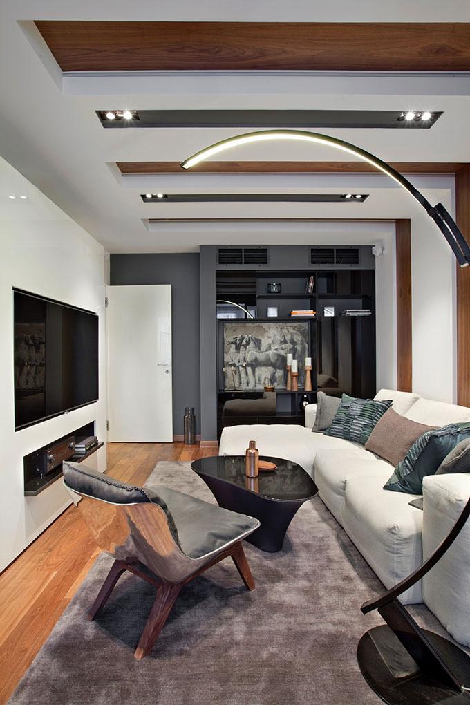 67 кв. м съвременен стил в мъжки апартамент-2