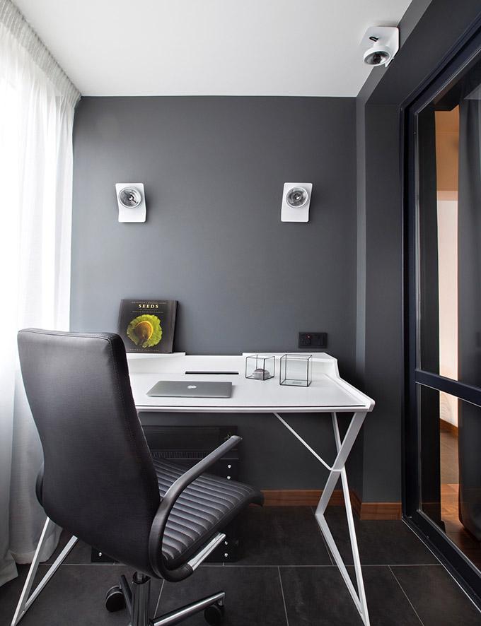 67 кв. м съвременен стил в мъжки апартамент-5