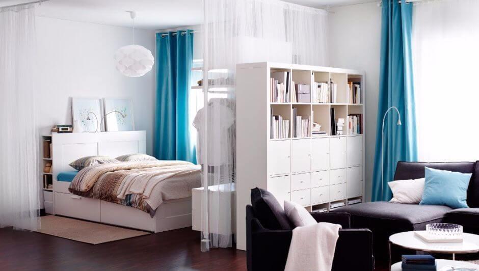 Как да отделим спалня в малък апартамент_19