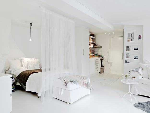 Как да отделим спалня в малък апартамент_21