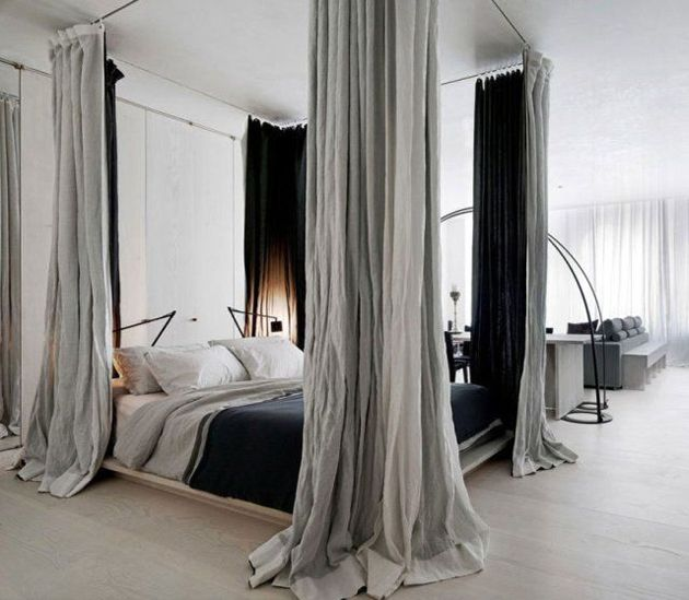 Как да отделим спалня в малък апартамент_22