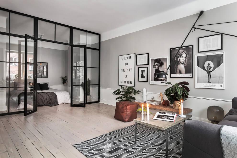Как да отделим спалня в малък апартамент_28