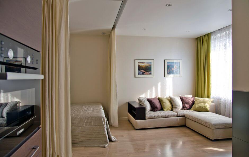 Как да отделим спалня в малък апартамент_9