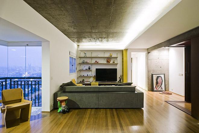 бетон и дърво интериор от Бразилия_13