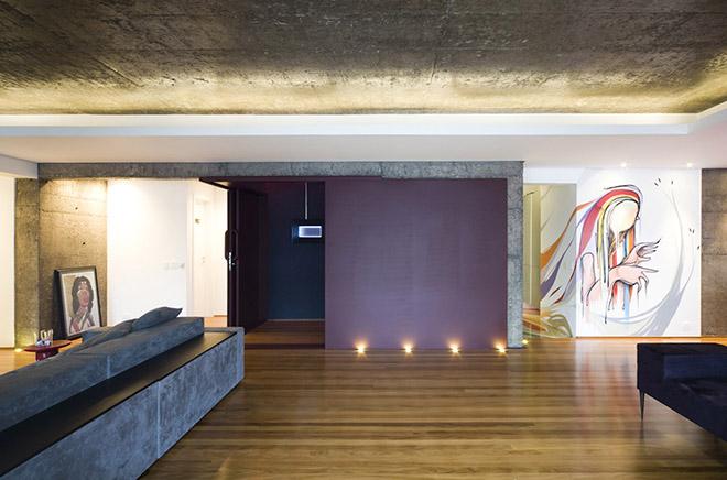 бетон и дърво интериор от Бразилия_17