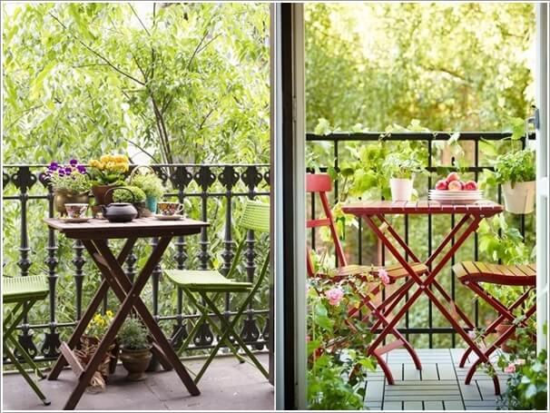 дървена маса с дървени столове за терасата