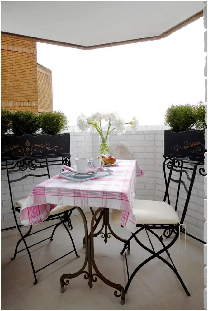 желязна маса за терасата