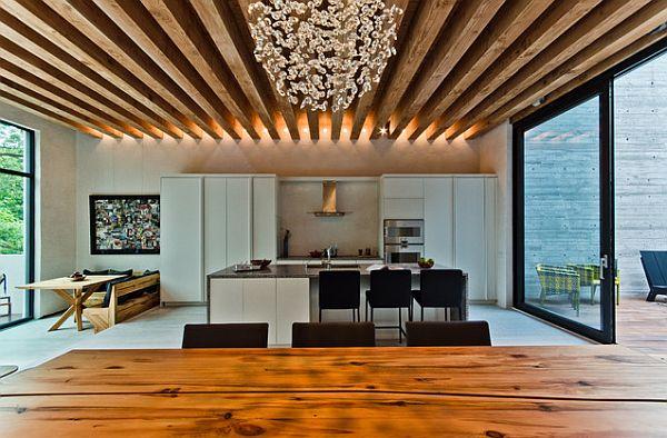 идеи за таван с дървени греди_1