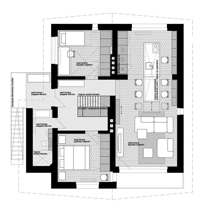 къща с ателие в банкя_dontdiy_план 1