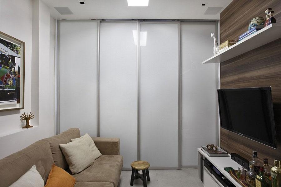 мини апартамент от 27 кв. м с плъзгаща стена2