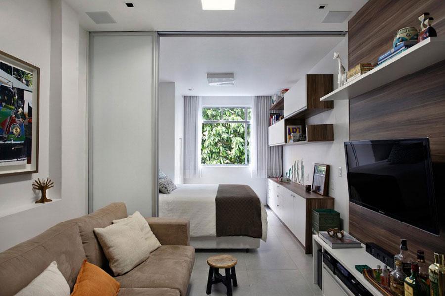 мини апартамент от 27 кв. м с плъзгаща стена3