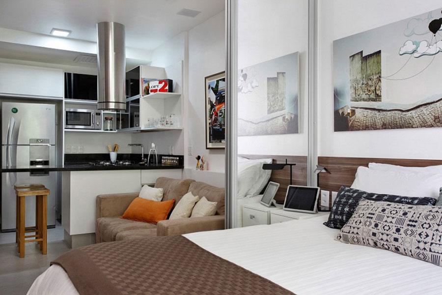 мини апартамент от 27 кв. м с плъзгаща стена_1