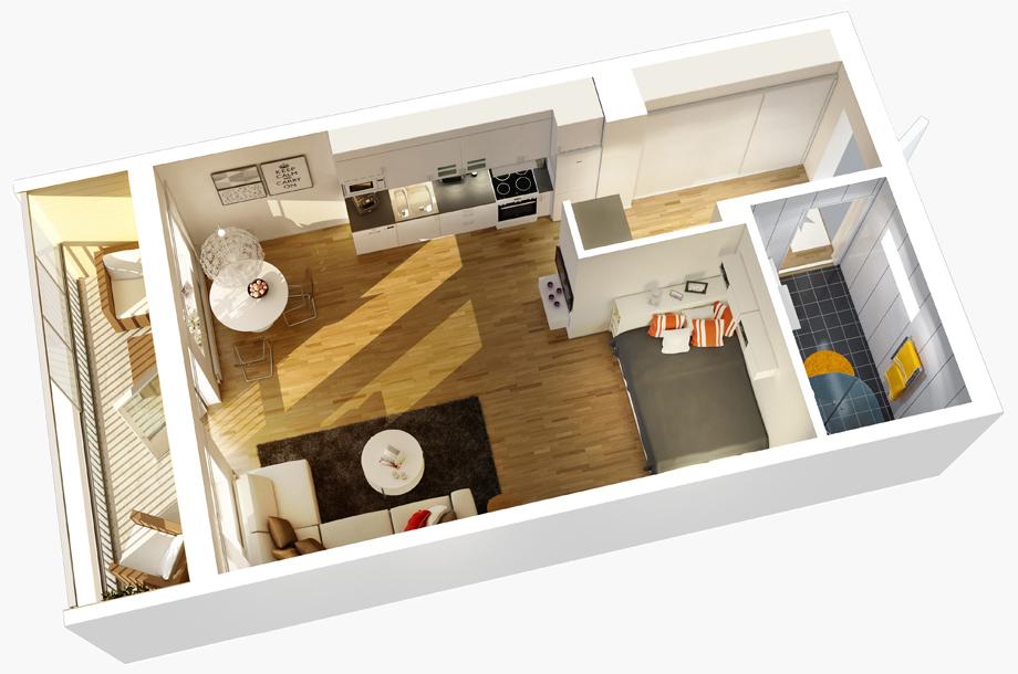 мини апартамент 22 кв. м_2