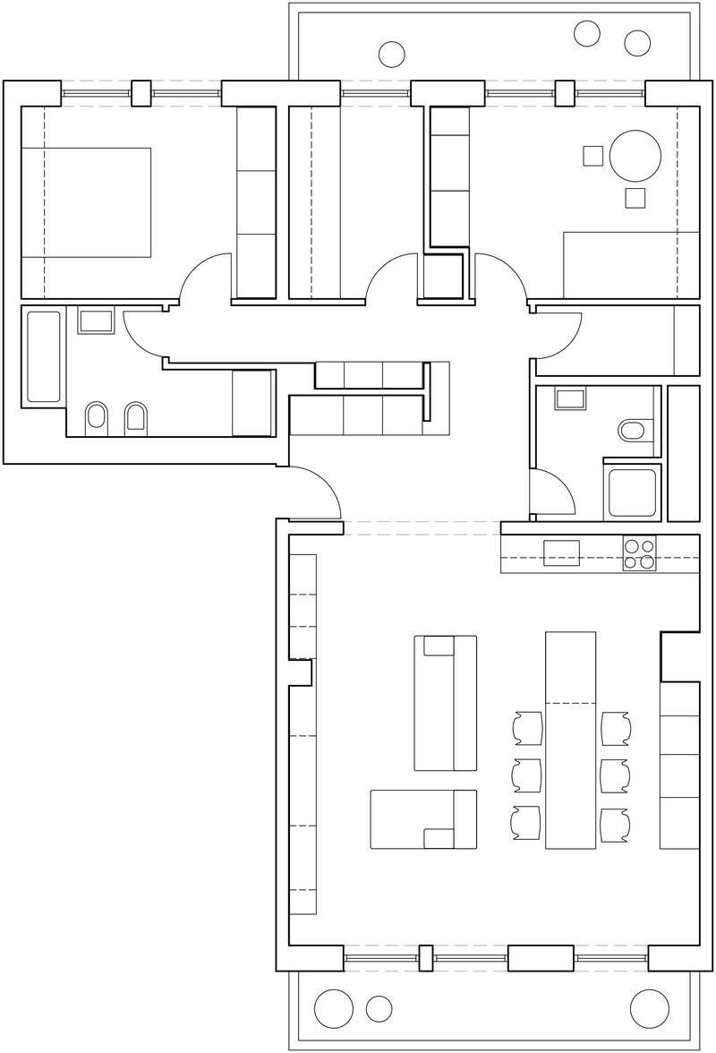 модулни системи в 100 кв. м апартамент_план