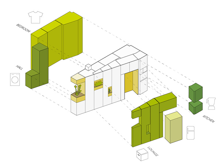 стена от шкафове разделя апартамента_план 2